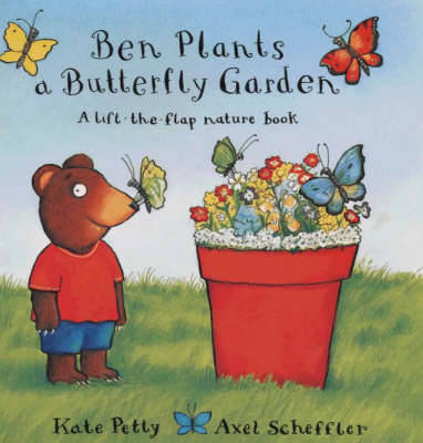 Ben plants a butterfly garden